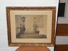 """Wallace Nutting """"The Settle Nook"""" Signed Dated 1912"""