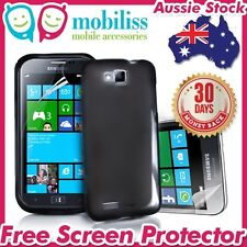 Black Jelly TPU Gel iSkin Case Cover for Samsung Ativ S i8750