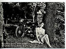 Quando a sostar amor invita.. Coppia con Motocicletta PC Circa 1960 Real Photo