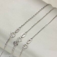 O link Chain Necklace / 1.2g 17.7Inch Solid 18K White Gold Necklace 1.2mm