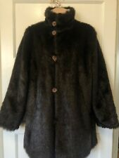 Reversible Faux Fur Coat Size 10 Embroidered Sleeve FABULOUSE - PRISTINE
