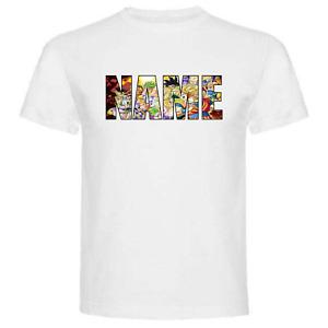 Dragon Ball Personalised T shirt Your Name Goku Christmas Gift Birthday Cotton