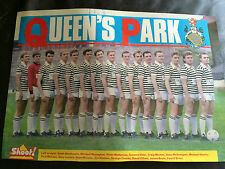 TEAM GROUP PHOTO POSTER / FOTO DEL EQUIPO - QUEEN'S PARK 1988-89 ISSUED BY SHOOT