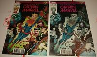 Mighty Captain Marvel #1 Brain Trust Variant Set by Todd Nauck limited to 3k/1k