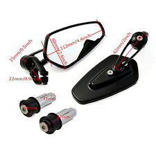 """Motorcycle Rearview Handle Bar End 7/8"""" Mirrors For HONDA CBR 600 RR 2003-2014"""