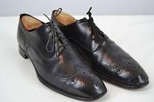 Brooks Brothers Crockett Jones Peal English Black Wing Tip Shoes Last 263 42 B