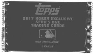 2017 Topps Series 1 Silver Pack Lot of 6 packs