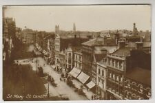 Wales postcard - St Mary Street, Cardiff - RP - P/U (A478)