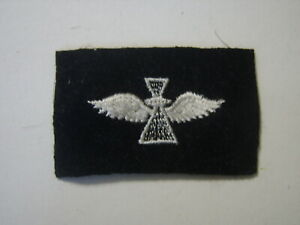 USN PHOTOGRAPHER'S MATE  STRIKER RATING INSIGNIA  WHITE ON BLUE WOOL 1969:KY21-1