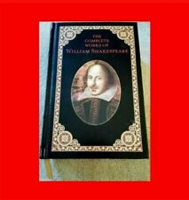 ☆RARE LEATHER%BOUND 22K GOLD-EDGE BOOK:THE COMPLETE WORKS OF WILLIAM SHAKESPEARE