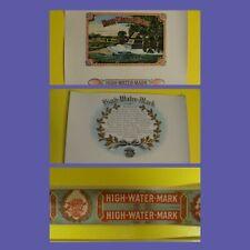 HIGH WATER MARK Brand * GETTYSBURG PA * Cigar Box Label Lot  1938