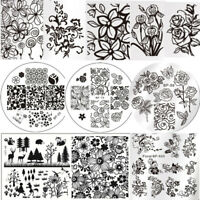 Nail Art Image Stamping Templates Flower Tree  Plates Tool Born Pretty