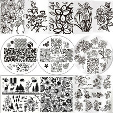 Nail Art Image Stamping Templates Flower Tree Manicure Plates Tool Born Pretty