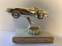 Vintage Automobile Car Racing Trophy; Dated 1958; Lot # 15