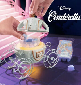 SCENTSY Disney Princess CINDERELLA CARRIAGE Warmer NIB Sold Out + 1 Wax Bar