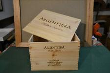 Cassa legno per 6 bottiglie di vino marchiata Argentiera