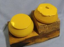 2 Vintage French Ivory Pyralin Powder Boxes~ Celluloid, Signed Ivory Py-ra-lin