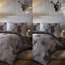 Tartan Stag Reversible Duvet Quilt Cover Bedding Set