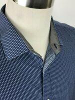 Bristol Bull Men's Blue Dot Long Sleeve Button Down Shirt Size XL