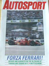 AUTOSPORT MAGAZINE SEP 1988 FORZA FERRARI BERGER ALBORETO YAMAHA SUBARU F1