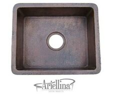 Ariellina 14 Gauge Handmade Bar Prep Copper Kitchen Sink Life Warranty AC3000