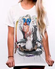 Fashion Boho Women White Casual Summer Short Sleeve Cotton T-Shirts Blouse Tops