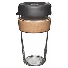 KeepCup Brew Reusuable Glass Coffee Cup Mug with Cork Band - 454ml 16oz Espresso