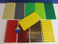 1x DUPLO lego BASE PLATE BOARD 6x12 stud CITY FARM HOUSE ZOO CASTLE red green