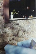SPLIT FACE TRAVERTINE 4 X RANDOM LENGHTS WALL Ivory Color CLADDING STONE