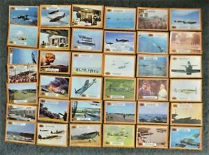 Lot of 30+ A&BC Battle of Britain Trading Cards 1969 - Mostly Poor Condition