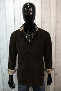 Camicia Burberry London Uomo Taglia L Chemise Velluto Shirt Cotone Manica Lunga