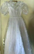 Mujer Vestido Blanco de Boda Encaje Elegante,Cóctel,Ceremonia