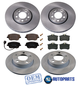 For Audi - A1 A3 1.4 1.6 1.8 1.9 2.0 1998-2018 Front & Rear Brake Discs & Pads