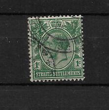 Straits Settlements, 1912 KGV 1c green inverted wmk SG193bw used (6902)