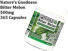 Nature's Goodness  Bitter Melon 500mg 365 Capsules