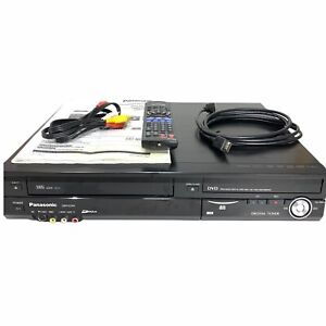 Panasonic DMR-EZ48V VHS To DVD Converter Recorder w/ Remote, Manual, Cables
