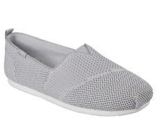 NEU SKECHERS Damen Slip-On Sneakers Slipper Loafer Memory Foam PLUSH LITE Grau