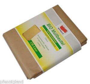 8 x Bio Müllsäcke, Quickpack, Müllbeutel aus Papier für die Biotonne 120 Liter