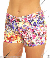 Cotton Blend Floral Regular Size Shorts for Women