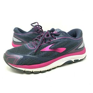 Brooks Dyad 9 Running Shoes Purple Athletic Lace Up Comfort Womens Size 8 WIDE