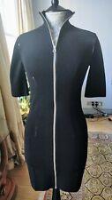 McQ Bodycon Zip Knit dress Black size M retailed £325