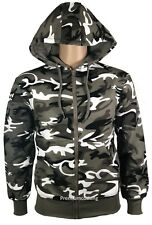 New Men's Winter Camo Fleece Jacket Jumper Sweatshirt Coat Outwear Full Zip Xmas