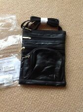 New Black leather Bag by Moda Nova 4 zip compartments