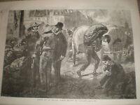 Forts De La Halle by Gavarni 1855 old print