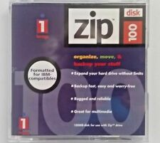 Iomega Zip 100MB Media Disks PC formatted with case