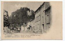 VIGNORY  Haute Marne CPA 52  entrée et ruines de la tour au puits