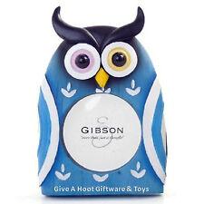 Resin Novelty Bobbling Owl Photo Frame Blue (A) Standup Hand Painted Nursery