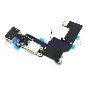 For iPhone 5S Charging Port & Audio Flex Cable White