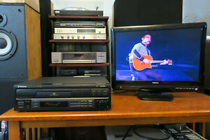 Pioneer CLD-S201 CD CDV LD Laserdisc Player Tested Working - No Remote