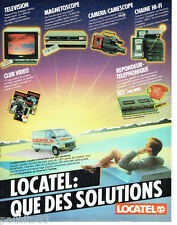 PUBLICITE ADVERTISING 066  1985  Locatel   locations voitures tv magnétoscopes